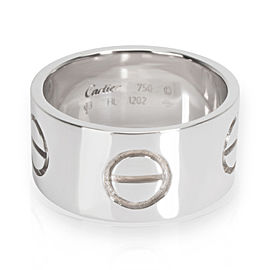 Cartier Love Ring in 18K White Gold 10mm Size 63