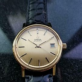 Men's Omega 1960s 35mm Gold-Plated Seamaster Automatic Swiss Vintage Watch LV642