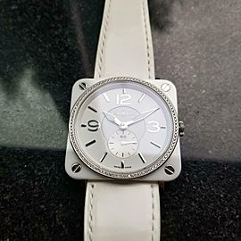 Ladies Bell & Ross Aviation 39mm Quartz Ceramic Diamond Dress Watch, c.2012 GG50