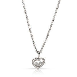 Chopard Happy Diamonds Icons Diamond Pendant in 18K White Gold 0.25 CTW