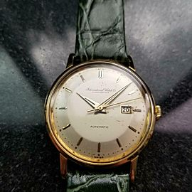 Men's IWC Schaffhausen 34mm 18k Gold Automatic Dress Watch, c.1960s LV464GRN
