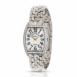 Franck Muller Cintree Curvex 1752 QZ D Women's Watch in 18KT White Gold