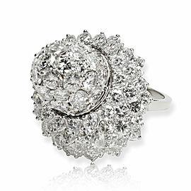 Vintage Cartier Beehive Cocktail Dome Diamond Ring in Platinum 5.85 CTW