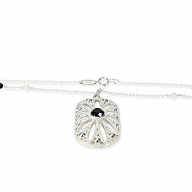 Tiffany & Co. Ziegfeld Collection Onyx Pearl Necklace in Sterling Silver