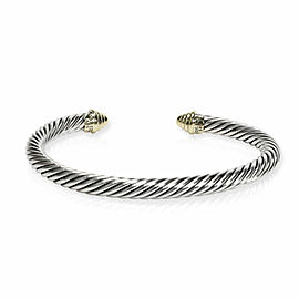 David Yurman Cable Collection Bracelet in 14K Yellow Gold/Sterling Silver