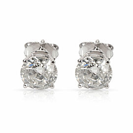 Diamond Stud Earrings in 14K White Gold (1.50 ctw G-H/I2)