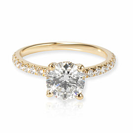 James Allen Diamond Engagement Ring in 14K Yellow Gold GIA G VS1 1.49 CTW