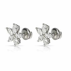 Tiffany & Co. Victoria Diamond Earring in Platinum 1.77 CTW