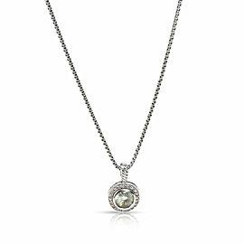 David Yurman Albion Collection Prasiolite Diamond Necklace in Sterling Silver