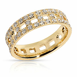 Tiffany & Co. Tiffany T True Wide Ring with Diamonds in 18K Yellow Gold 0.99 CTW