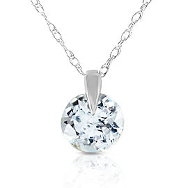0.65 CTW 14K Solid White Gold Best Of Times Aquamarine Necklace