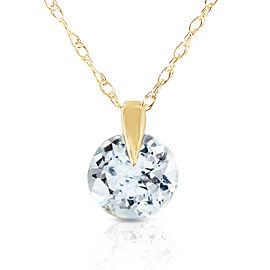 0.65 CTW 14K Solid Gold Unforgettable Aquamarine Necklace