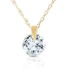 0.65 CTW 14K Solid Gold Unforgettable Aquamarine Necklace