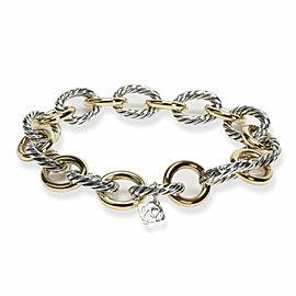 David Yurman Cable Link Bracelet in 18K Yellow Gold/Sterling Silver