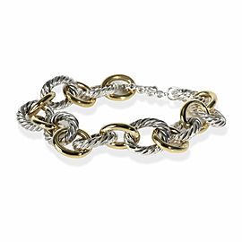David Yurman Cable Link Bracelet in 18K Yellow Gold/Sterling Silver