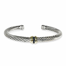 David Yurman Cable Bracelet with Sapphires in 14K Yellow Gold/Sterling Silv