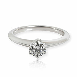 Tiffany & Co. Solitaire Diamond Engagement Ring in Platinum I VVS2 0.47 CTW