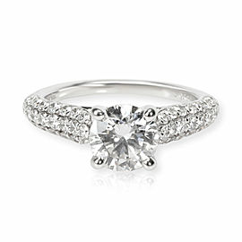 Gabriel & Co. Pave Diamond Engagement Ring in 18K White Gold E SI2 2.27 CTW