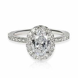 Brilliant Earth Oval Halo Diamond Engagement Ring in 18K Gold D SI1 1.46 CTW