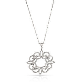 Tiffany & Co. Enchant Diamond Necklace in Platinum 0.98 CTW