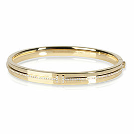 Tiffany & Co. Tiffany T Bangle with Diamonds in 18K Yellow Gold 0.17 CTW