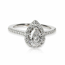 Gabriel & Co. Halo Diamond Engagement Ring in 14K White Gold GIA E SI1 1 CTW