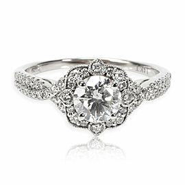 Valina Halo Diamond Engagement Ring in 14K White Gold 1.20 CTW