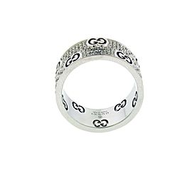 Gucci Icon Stardust double diamond eternity band ring 18k gold size 6.75