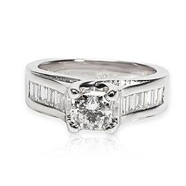 Cushion Cut Diamond Engagement Ring in 18K White Gold E-F VS2 1.75 CTW