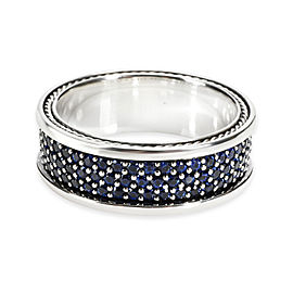 David Yurman Streamline Sapphire Men's Ring in Sterling Silver