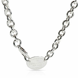 Tiffany & Co. Oval Return to Tiffany Choker Necklace in Sterling Silver