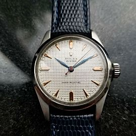 Rolex Rare 31mm Midsize 1950s Oyster 6244 Manual Wind Swiss Vintage Watch LV570