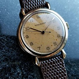 Jaeger LeCoultre Solid Gold 33mm Swiss 1950s Manual Mens Vintage Watch MA72