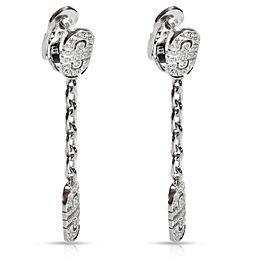 Bulgari Parentesi Diamond Drop Earrings in 18K White Gold 1.00 CTW