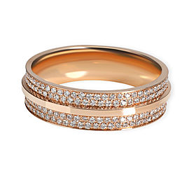 Tiffany & Co. T Wide Pave Diamond Ring in 18K Rose Gold 0.61 CTW