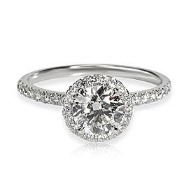 James Allen Halo Diamond Engagement Ring in 14K Gold GIA Certified I VS2 1.33CTW