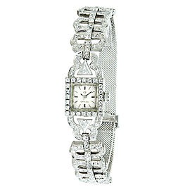 Omega Vintage Dress 650 Women's Quartz Watch in 18K White Gold