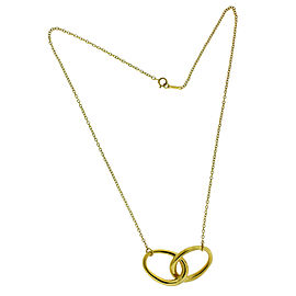 Tiffany & Co 18k gold Elsa Peretti interlocking necklace 13.6 grams