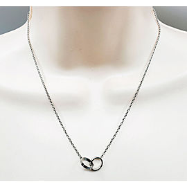 Cartier Love necklace in 18 karat white gold 17""