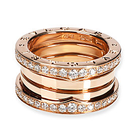 Bulgari B.zero1 Diamond Ring in 18K Rose Gold 1.56 CTW