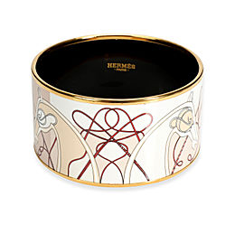 Hermès Wide Enamel Bangle