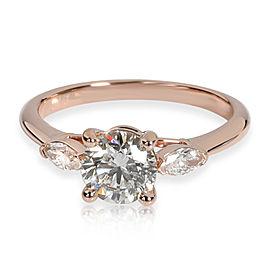 James Allen Diamond Engagement Ring in 14KT Rose Gold L VS1 0.91 CTW