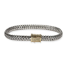 John Hardy Chain Bracelet in 18K Yellow Gold/Sterling Silver