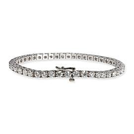 Four Prong Diamond Tennis Bracelet in 14K White Gold (VS2/SI1) 6.50 CTW