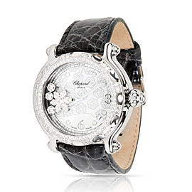 Chopard Happy Sport 288946-2001 Unisex Snowflake Watch in Steel & 18K White Gold