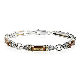 Lagos Caviar Color Citrine Bracelet in 18kt Yellow Gold & Sterling Silver