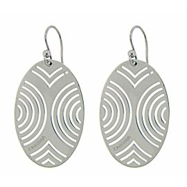 Enigma By Bulgari oval earrings in sterling silver.