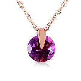 0.75 CTW 14K Solid Rose Gold Sundisk Amethyst Necklace