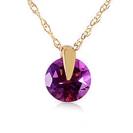 0.75 CTW 14K Solid Gold Saw It Coming Amethyst Necklace