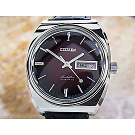 Mens Citizen Manhattan 37mm Manual Wind w/Day Date, c.1970s Vintage Dx36